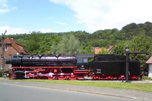 Alte Dampflokomotive in Altenbeken